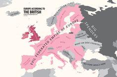 Mapping Stereotypes by Yanko Tsvetkov, aka alphadesigner. Very funny. Also true. Haha...