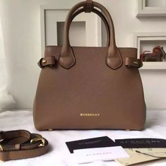 b4e037aedd68 Burberry Small Banner Bag In Leather And House Check Camel
