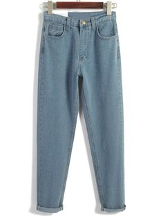 Shop Vintage High Waist Denim Blue Pant online. SheIn offers Vintage High Waist Denim Blue Pant & more to fit your fashionable needs.