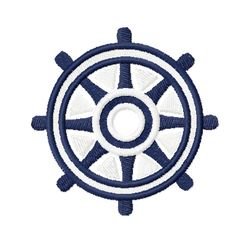 Machine Embroidery Design - Steering Wheel Ship, $2.25