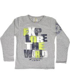 Name It grijze t-shirt met leuke letters in frisse kleurtjes. name-it.nl.emilea.be