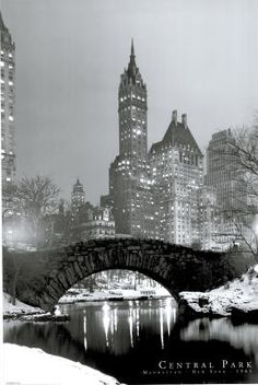 New York City Central Park 1961 Photo Art Print Poster