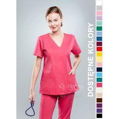 Odzież medyczna dla kobiet. | Bluza damska kolorowa 1808 - z pewnością będzie to strzał w 10-tkę dla pielęgniarek i lekarzy. | Sklep internetowy Dersa |