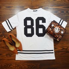 WHITE LONGLINE JERSEY TEE WORN ONCE NO TRADE ‼️PRICE FIRM‼️ CHEAPER ON ♏️ Sunnyfair Tops Tees - Short Sleeve