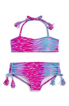 Billabong+'We+Love+the+Wild'+Two-Piece+Bandeau+Swimsuit+(Little+Girls)+available+at+#Nordstrom