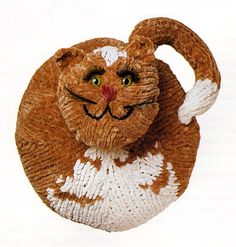 Ravelry: Meow-Kitty Pillow pattern by Nicky Epstein