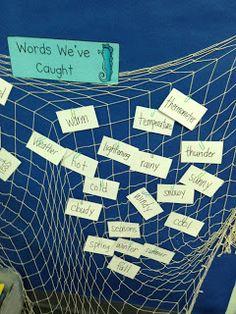 """Words We've Caught"" vocabulary development – jigging Book Corner Classroom, Year 2 Classroom, Ks1 Classroom, Classroom Themes, Classroom Reading Area, Science Classroom, Pirate Activities, Sight Word Activities, Vocabulary Activities"