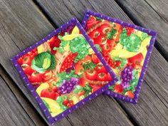 Square pot holders / hot pads on Etsy, $10.50