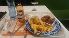 Fish & Chips at Airport of Amsterdam