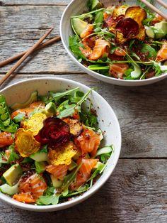 Sashimi, Thai Red Curry, Good Food, Healthy Recipes, Ethnic Recipes, Quinoa, Dream Life, Healthy Eating Recipes, Healthy Food Recipes