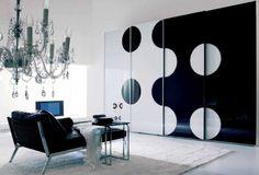 decoración de paredes en blanco y negro