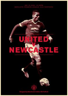 Match poster. Manchester United v Newcastle United, 22 August 2015. Designed by @manutd