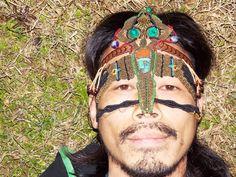Amazon macramé mask. Unique piece handmade natural by MaMachavaya, €150.00