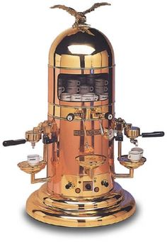 Belle Epoque espresso maker. No endorsement intended, except it looks really cool. Waiting for a steampunk espresso maker.