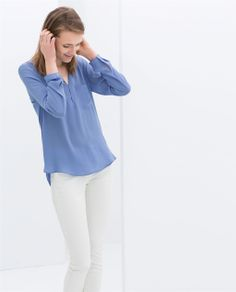 Image 4 of LONG SLEEVE BLOUSE from Zara