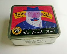 Einstein Bros Bagels Its Lunch Time Metal Lunch Box Skip Rope Not Mentally Out Skipping Rope, Metal Lunch Box, Cooking Supplies, Bagels, Lunch Time, Einstein, Ebay