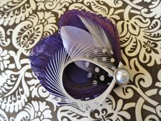 CHLOE in Purple Peacock Feather Hair Clip by Lucyohlucy on Etsy, $18.50