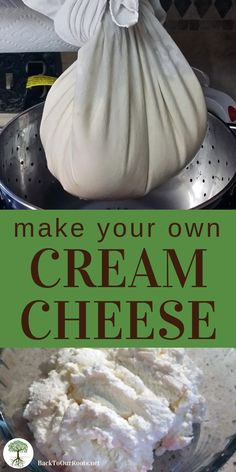 How to Make the Creamiest Cream Cheese Ever is part of Cheese making recipes - Cream cheese is another one of those versatile dairy products Use it plain, sweet, or savory It's easy! Make Cream Cheese, Cream Cheese Recipes, How To Make Cheese, Food To Make, Mozzarella Cheese Recipe, Making Goat Cheese, Making Cheese At Home, Home Made Cream Cheese, Cottage Cheese Recipes