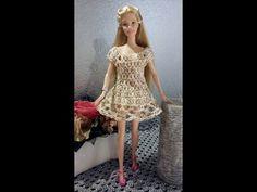 YouTube Barbie Dolls Diy, Crochet Barbie Clothes, Barbie Dress, Barbie And Ken, Crochet Dolls, Doll Clothes, Doll Videos, Fashion Dolls, Fashion Outfits