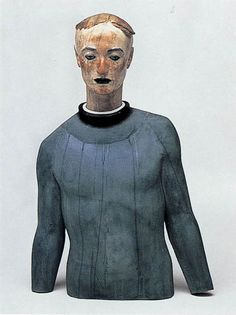 Katsura Funakoshi (舟越 桂) (b.1951) - 1994: 月から降る雨 Rain that falls from the moon