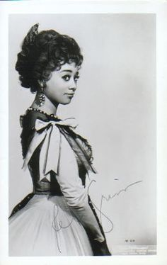 Reri Grist. My favorite coloratura soprano...shimmer and warmth in her voice that can make anyone smile. She found fame in Europe before opera was as accepting to African American singers in the US. Also, on the original cast recording for dream sequence Maria in West Side Story. She still lives in Austria...I want to meet her one day!
