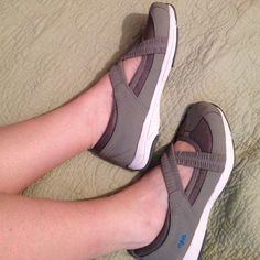 Ryka slip on sneakers. Size woman's 6 wide. NEW. Never worn. If you have never worn Ryka they are super comfy. Lightweight. Leather and fabric upper. New without box but if you must have a box I have one from another pair of Rykas. Just ask for it, Ryka Shoes Sneakers