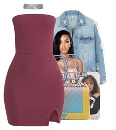 """""""Come and talk to me... like Jodeci"""" by shilohluvsu ❤ liked on Polyvore featuring LE3NO, Steve Madden and Chanel"""