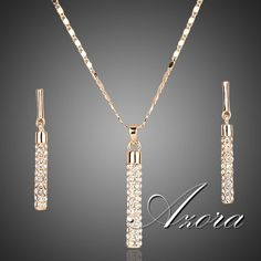 Top #Quality 18K Real Gold Plated Stellux Drop #earrings and Pendant #necklace #set ♡ 100% of buyers would buy this product again!