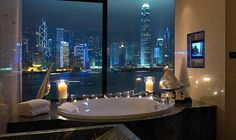 InterContinental Hong Kong Hotel -  decided that this is my bathroom. Its truly breathtaking. Now....getting there