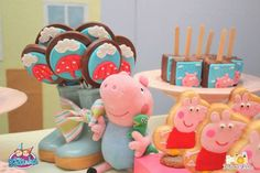 Peppa Pig themed birthday party via Kara's Party Ideas KarasPartyIdeas.com #peppapig #peppapigparty #peppapigcake (26)