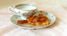Easy tarte tatin with peaches