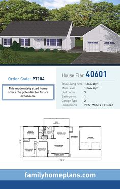 Open concept floor plan new ranch model home for House plans with future expansion