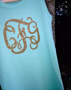 Custom DIY Iron on Monogram Initials for Your by Miss54Couture