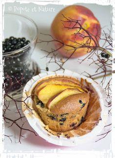 Muffins aux baies de sureau et aux nectarines - Popote et Nature