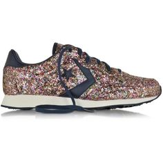 Auckland Racer Ox Glitter Sneaker crafted from multi-colored glitter fabric is a comfortable racer with a retro inspired vibe.  Featuring lace-up design, round…