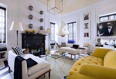 Love the yellow sofa