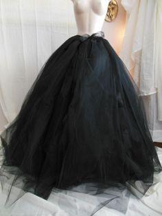 Long Tulle Skirt Formal Skirt Skirt with by VioletCastleCostumer, $130.00