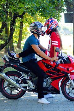 Everything is fucked up : photo biker love, biker girl, biker chick, b Bike Couple, Motorcycle Couple, Motorcycle Engine, Motocross, Motorcross Bike, Motorbike Girl, Biker Chick, Biker Girl, Brown To Blonde Balayage