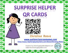 Autism Classroom News: Helpers and Behavior: Free QR Helper Cards Classroom Jobs, Classroom Freebies, Classroom Behavior, Autism Classroom, Special Education Classroom, Classroom Organization, Classroom Resources, Classroom Projects, Behavior Management