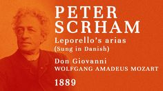 Peter Schram - The FIRST recording of an opera singer (1889) - Leporello...