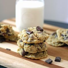 Chocolate Therapy: Best Ever Oatmeal Chocolate Chip Cookies