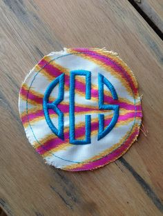 Removable Monogramed Patch in your choice of colors to Velcro or Stitch onto your Graduation Cap and then afterwards put it on a hat, bag, shirt, the options are endless! $12.00. #graduation #monogram #southern #shopsmall #lakenorman