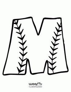 Baseball Alphabet Letter M