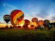 3. Watch the hot air balloons at the Poteau Balloon Festival.