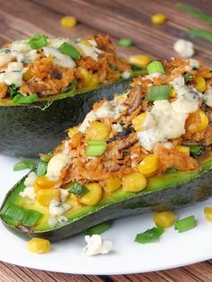 Chicken Stuffed Avocado | YummyAddiction.com