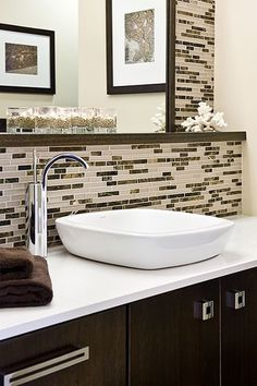 Guests Will Be Thrilled To Use This Main Level Bathroom With - Vessel sink bathroom ideas