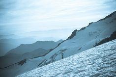 Hiking up to Camp Muir on Mount Rainier