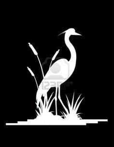 heron silhouette - Google Search