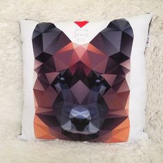 Decorative Pillow I love German Shepherd Dog by PSIAKREW on Etsy