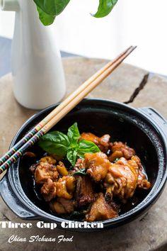 Three Cup Chicken in Claypot Asian Recipes, Oriental Recipes, Chinese Recipes, Chinese Food, Ethnic Recipes, Claypot Recipes, Turkey Recipes, Chicken Recipes, Slow Cooker Chicken Marsala